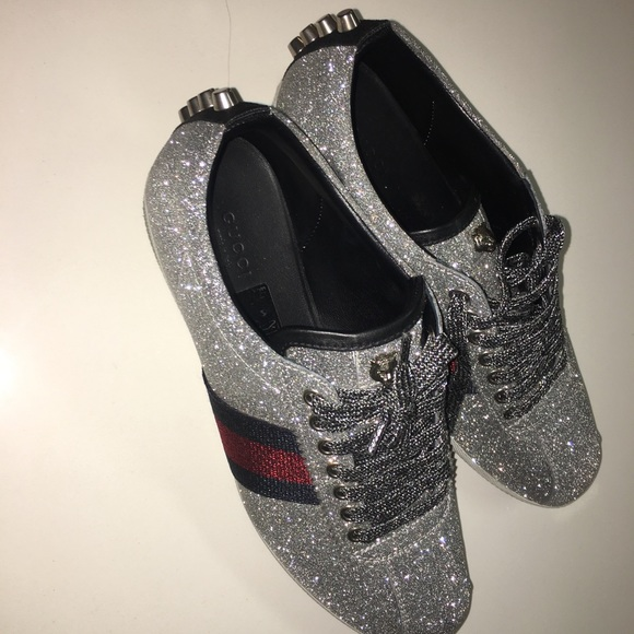 d575827546a0 Gucci Shoes - Women s Gucci Glitter Sneakers